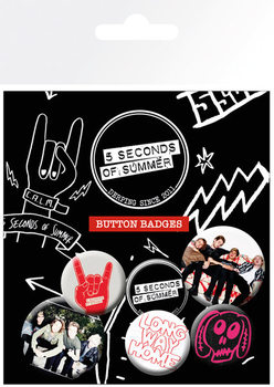 5 SECONDS OF SUMMER - Mix 2 Badge Pack